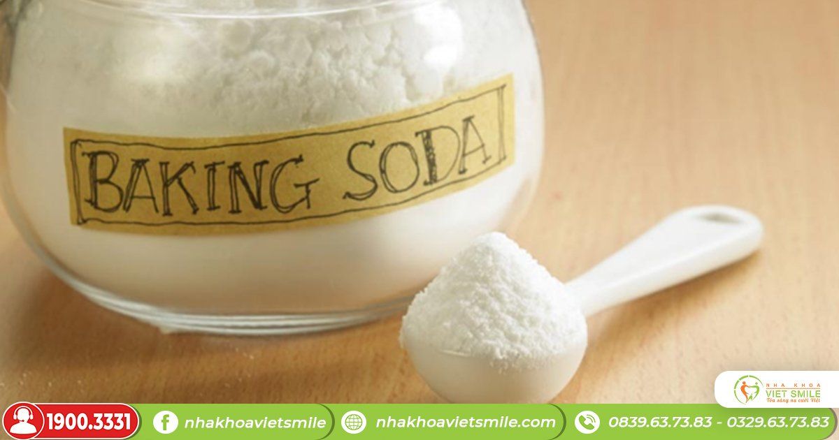 Phương pháp tẩy trắng răng tự nhiên bằng baking soda