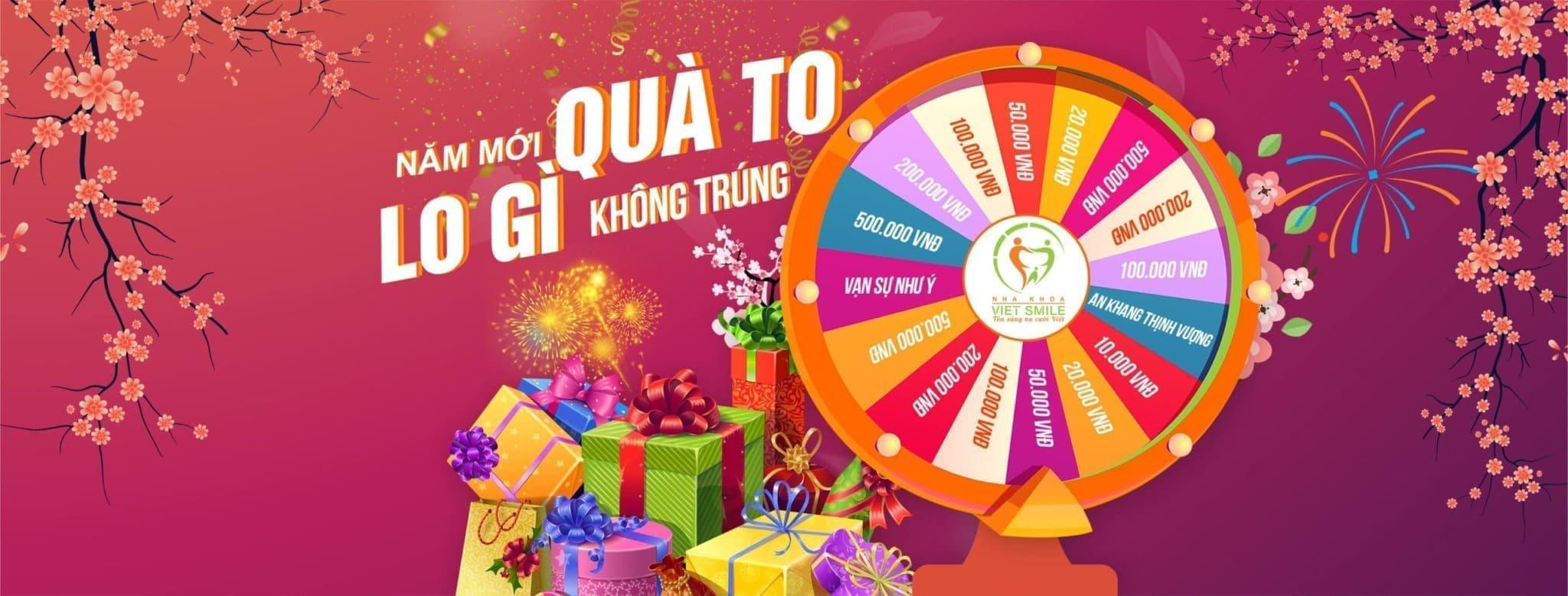 Nhanh tay tham gia vòng quay để nhận hàng ngàn ưu đãi hấp dẫn của Việt Smile